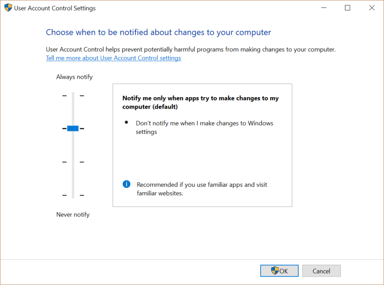 Bypassing default UAC settings manually | Ivan's IT learning